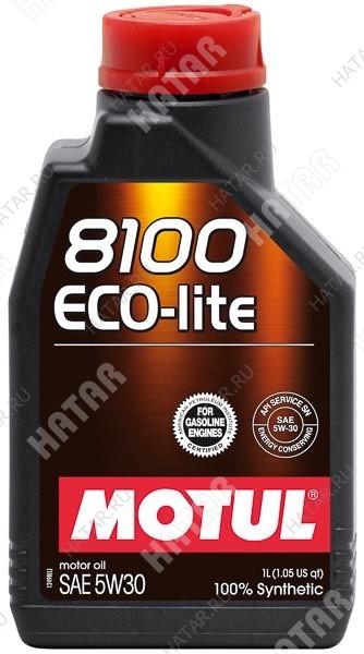 MOTUL 5w30 8100 eco-lite моторное масло синтетика sn/ gf-5 dexos1 1л