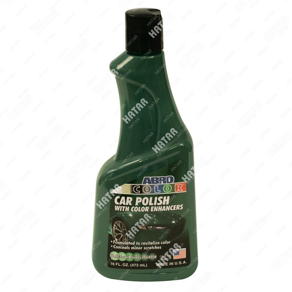 ABRO Полироль кузова цветная, зеленая 473мл