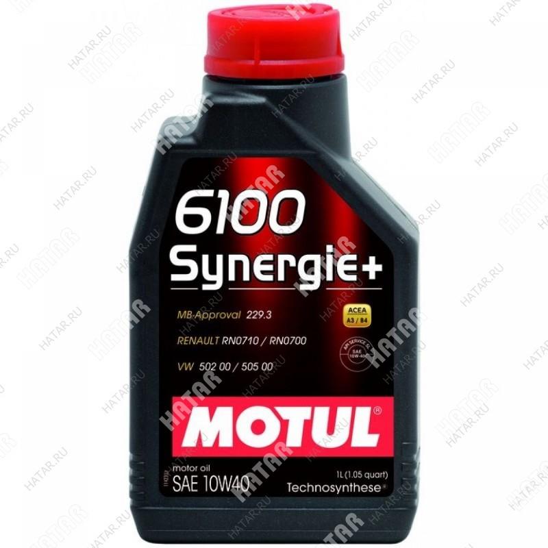 MOTUL 10w40 6100 synergie+ моторное масло синтетика sl/cf 1л