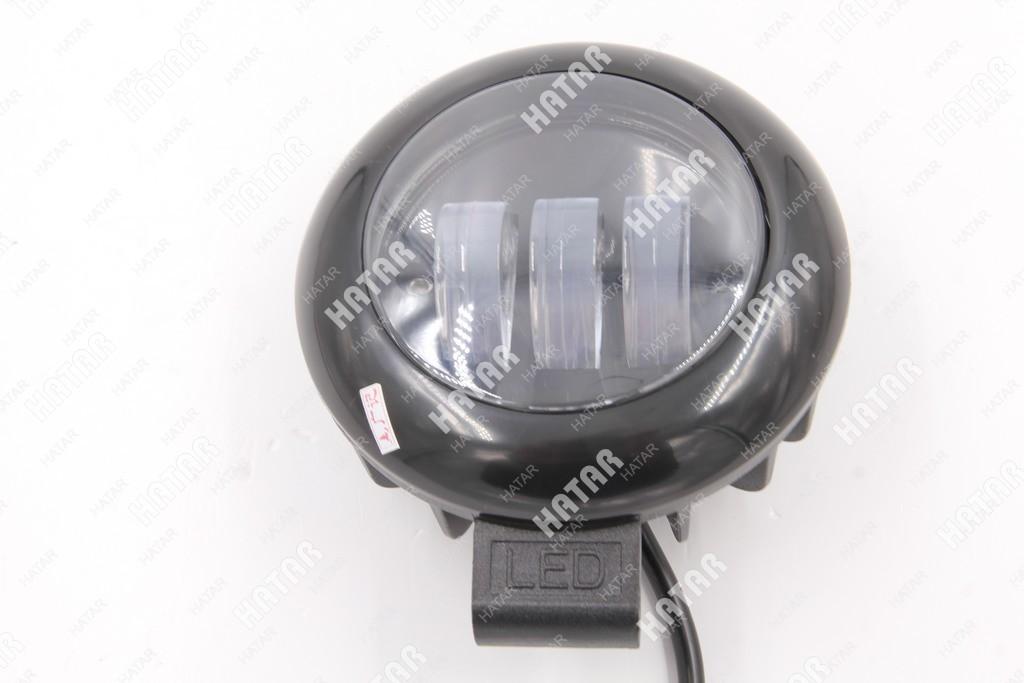 DRL Противотуманная фара led круглая в черном корпусе
