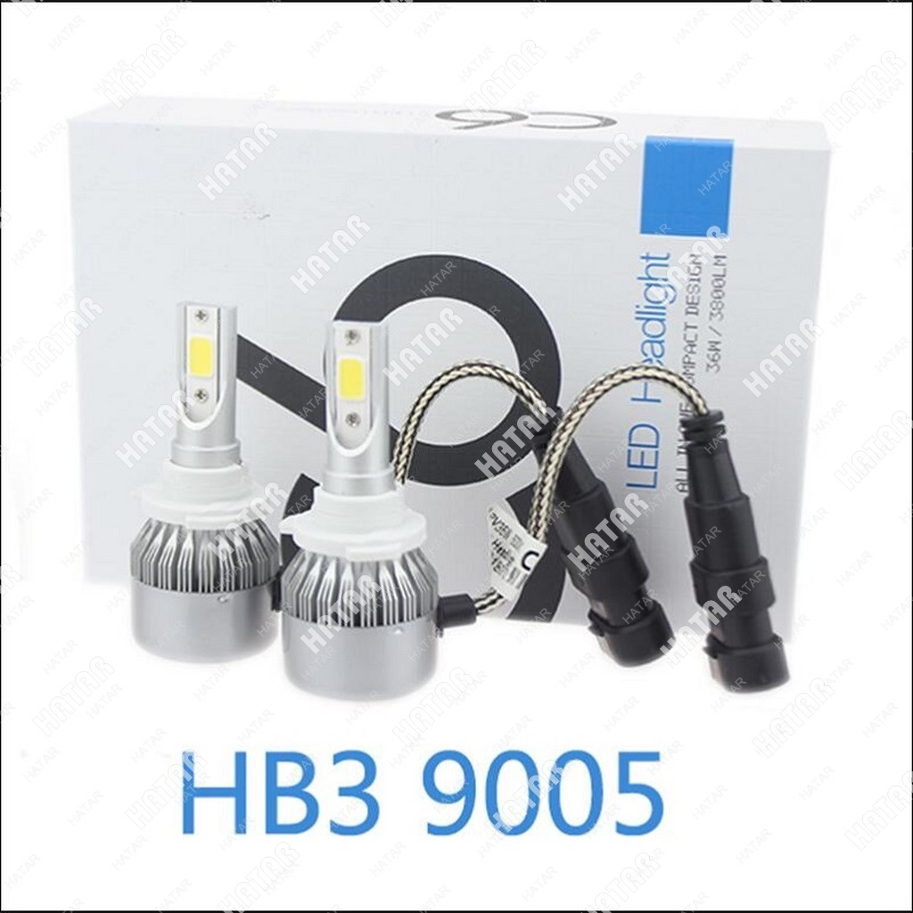 LED HEADLIGHT C6 светодиодная лампа 2шт