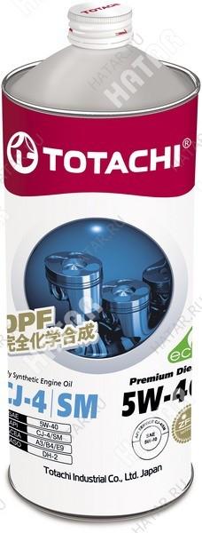TOTACHI 5w40 premium diesel масло моторное,синтетика, cj-4/sm 1л