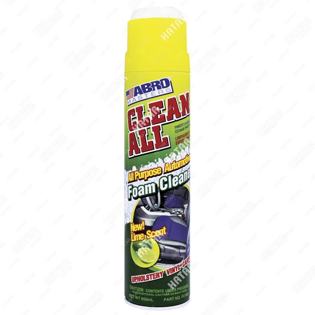 ABRO Очиститель пенный универсальный аромат лайма с щеткой 650мл