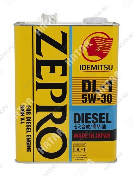 IDEMITSU Zepro diesel dl-1 5w30 масло моторное полусинтетика 4л