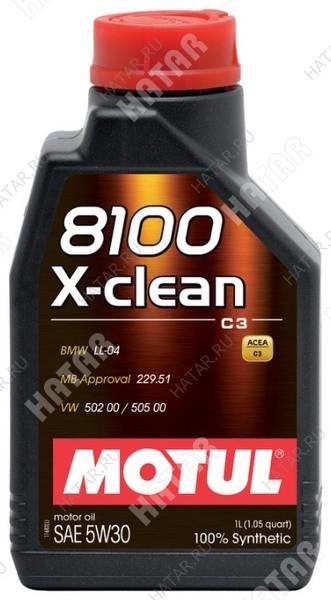 MOTUL 5w30 8100 x-clean+ c3 моторное масло синтетика sm/cf 1л