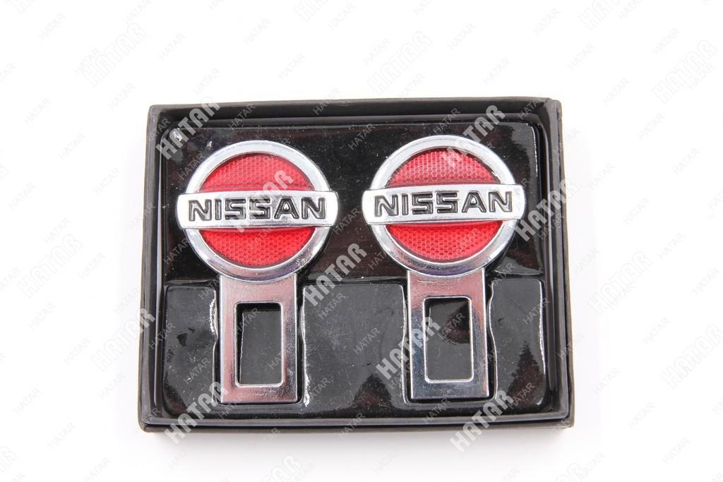 SY Заглушка ремня безопасности nissan красный к-т 2шт