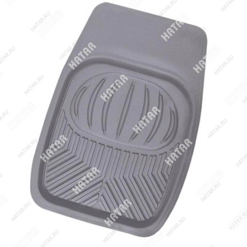 AUTOPROFI Коврик автомобильный, универсальный, ванночка для переднего ряда, пвх, 1шт., 69х48см, пвх серый