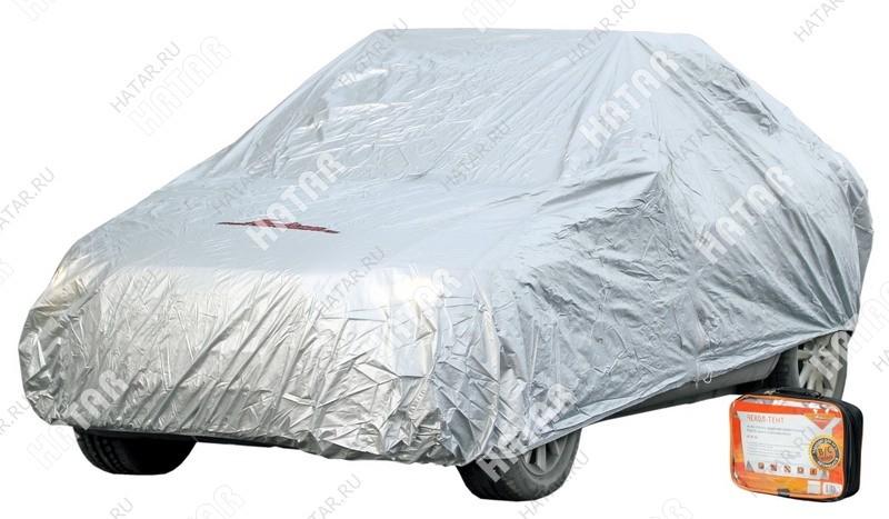 AIRLINE Чехол-тент на автомобиль защитный, размер s (455х186х120см), цвет серый, молния для двери, универсальный