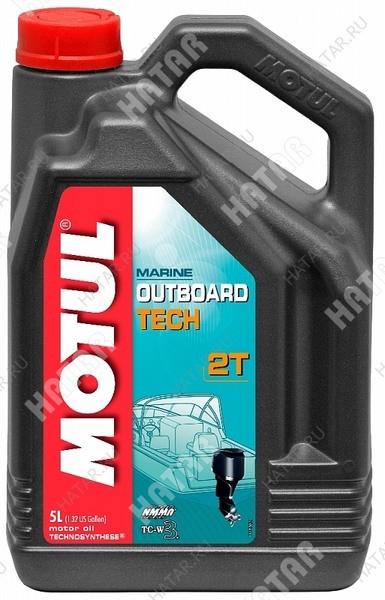 MOTUL Outboard tech 2t моторное масло для 2-х тактных подвесных лодочных двигателей tc-w3 5л