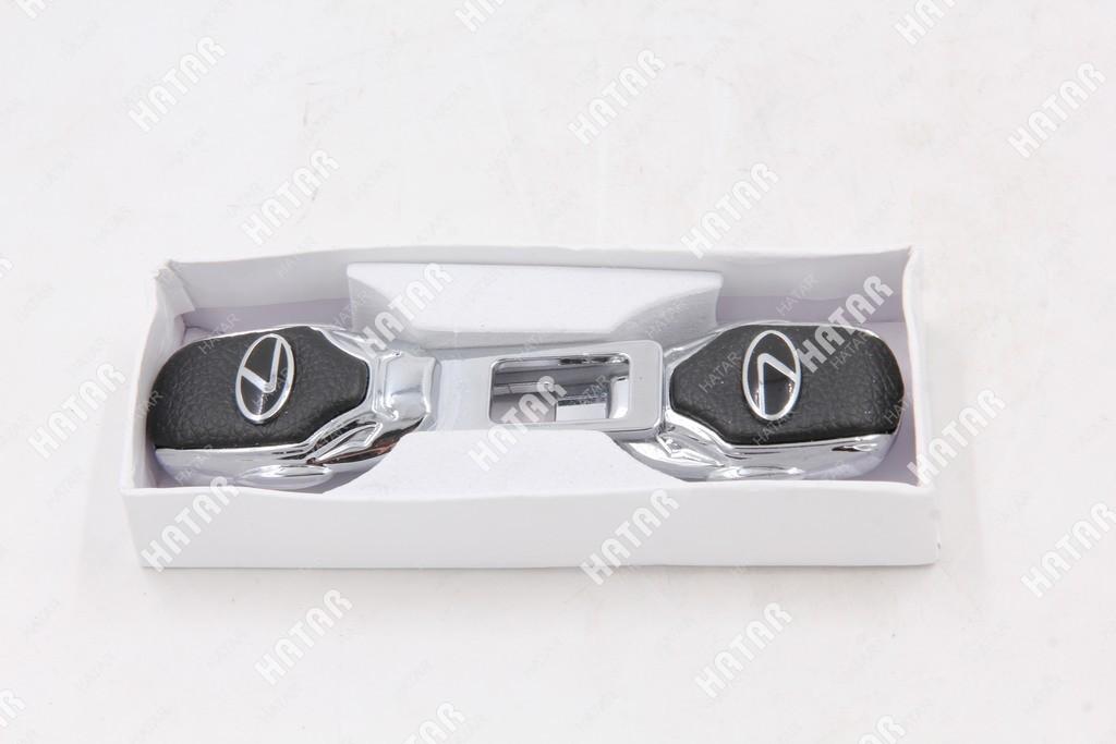 SY Заглушка ремня безопасности lexus черная хром к-т 2шт