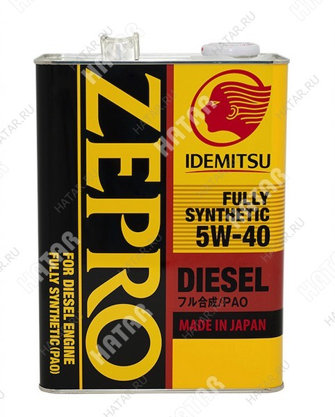 IDEMITSU Zepro diesel 5w40 f-s масло моторное синтетика cf 4л