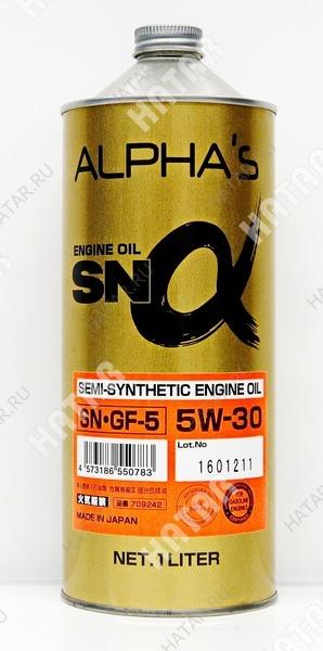 ALPHAS 5w30 масло моторное полусинтетика sn/gf-5 1l