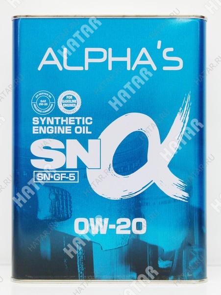 ALPHAS 0w20 масло моторное синтетика sn/gf-5 4l