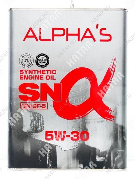 ALPHAS 5w30 масло моторное синтетика sn/gf-5 4l