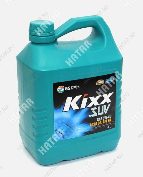 GS KIXX D1 rv/suv 5w40 масло моторное синтетическое (дизель) sn/cf, 4л