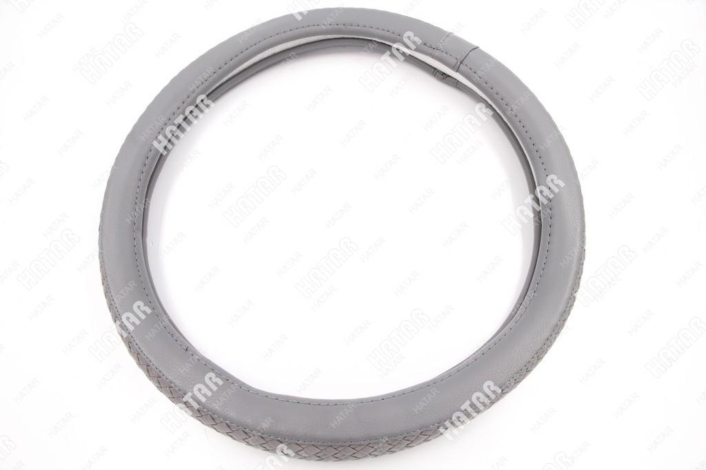 BOOST Оплетка руля серый плетеная размер м