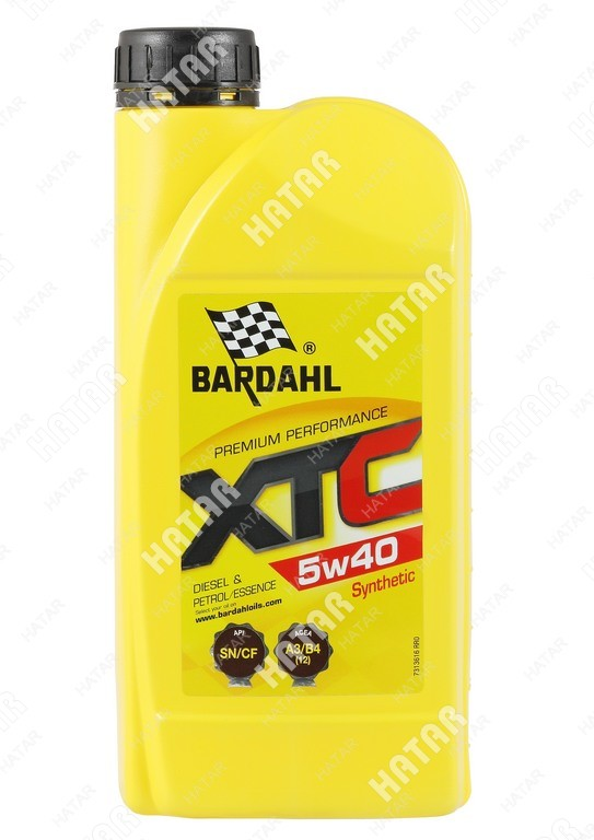 BARDAHL 5w-40 xtc cинтетическое моторное масло sn/cf 1л