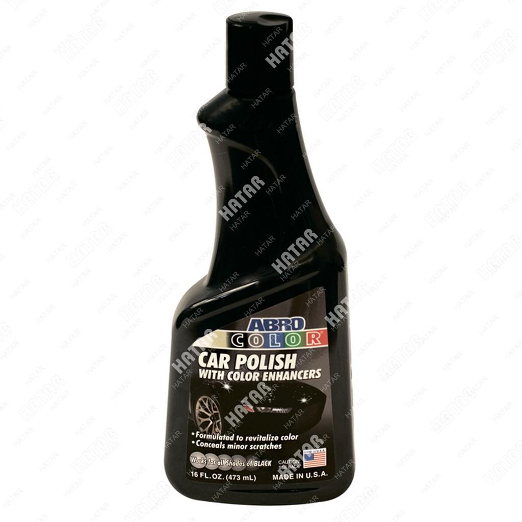 ABRO Полироль кузова цветная, черная 473мл