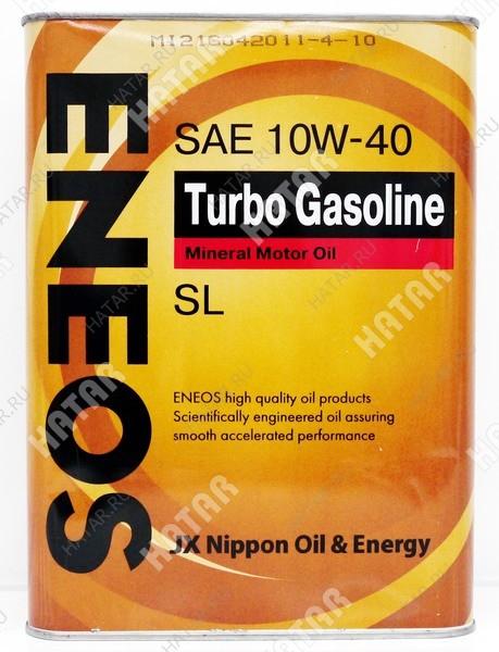 ENEOS 10w40 turbo gasoline минеральное моторное масло sl/ gf-3 4л