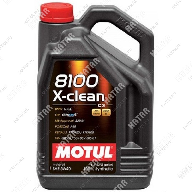 MOTUL 5w40 8100 x-clean моторное масло синтетика sm/cf 4л