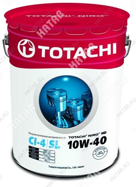TOTACHI 10w40 niro hd масло моторное, полусинтетика,ci-4/sl 16.5кг/18,98л