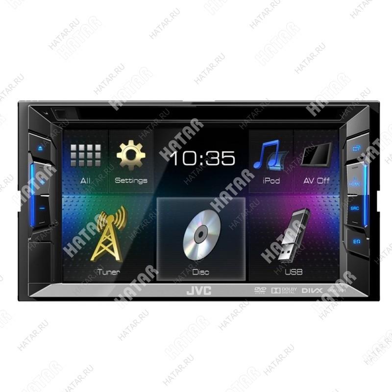 """JVC Kw-v11 jvc автомагнитола 2 din dvd дисплей 6.2"""" макс. мощность 4 x 50 вт usb и ipod"""