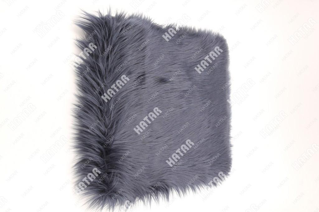 BOOST Накидка на сиденье натуральный мех темно-серый