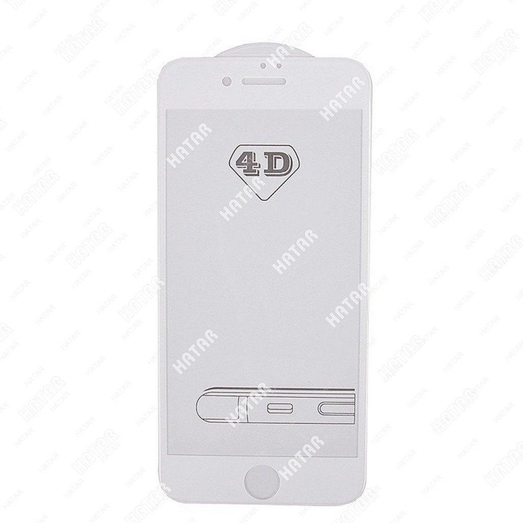 APPLE Стекло защитное 4d для apple iphone 7 белое