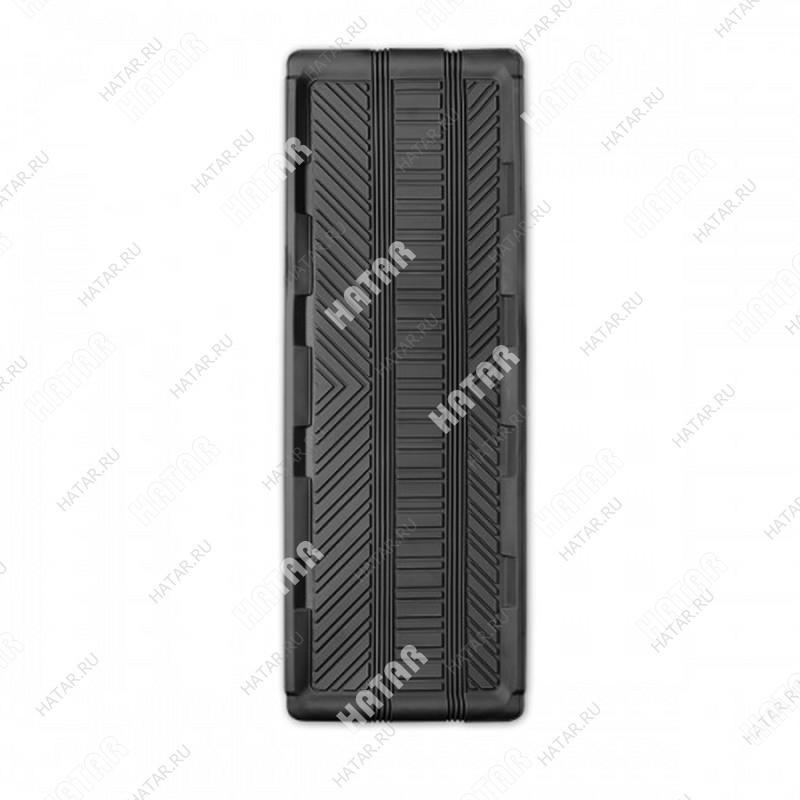 AUTOPROFI Коврик автомобильный универсальный, длинная ванночка заднего ряда, термопласт, 1 шт., 127х45см, чёрный