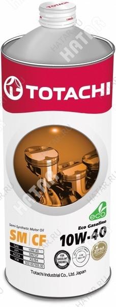 TOTACHI 10w40 eco-gasoline масло моторное, полусинтетика, sm/cf 1л
