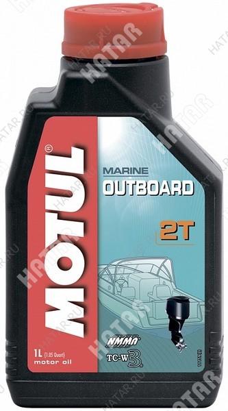 MOTUL Outboard 2t моторное масло для 2-х тактных подвесных двигателей водной техники 1л минеральное