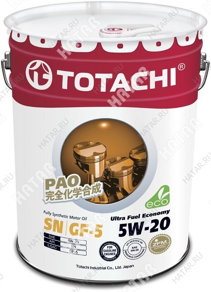 TOTACHI 5w20 ultra-fuel масло моторное,синтетика, sn 20л