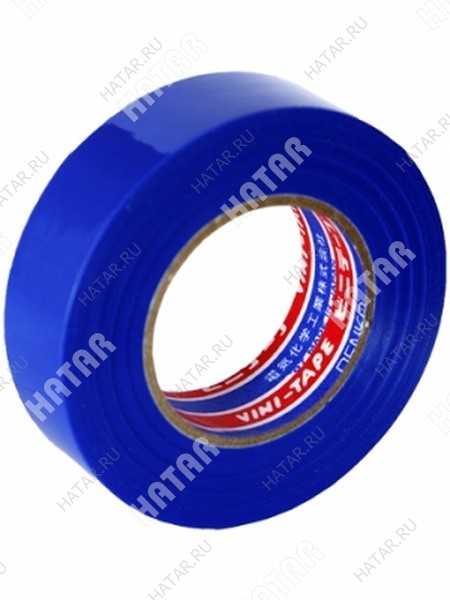 DENKA Лента изоляционная vini tape, 18 мм, 20 м, синяя