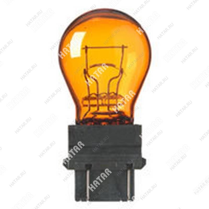 Lynxauto лампа p27/7 12v 2.5x16q amber