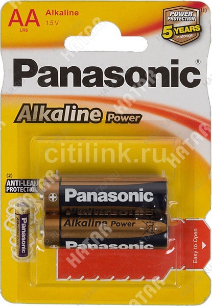 PANASONIC Lr6 panasonic alkaline батарейки aa 2шт.