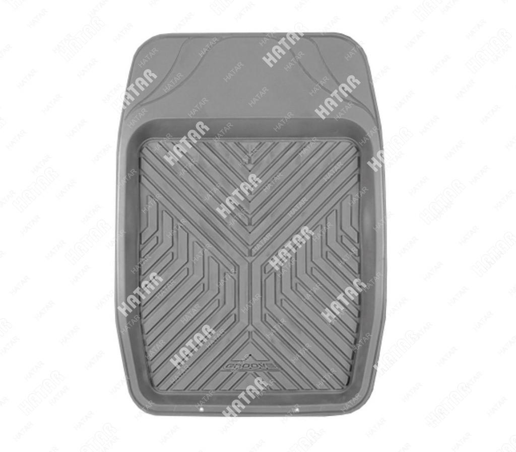 AUTOPROFI Коврик автомобильный, groove универсальный, ванночка переднего ряда, термопласт, 1 шт.,69х48см, серый