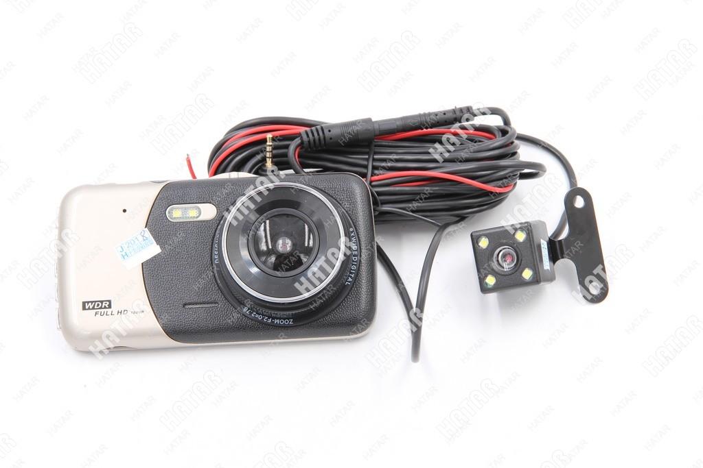 WDR Видеорегистратор автомобильный с 2 камерами