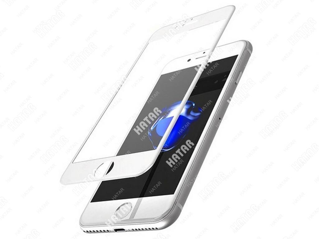 APPLE Стекло защитное 4d для apple iphone 7+ белое
