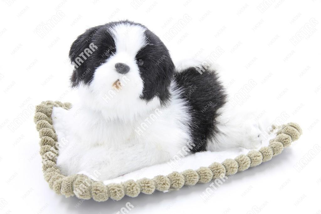 BOOST Собака игрушка украшение на панель белая/черная