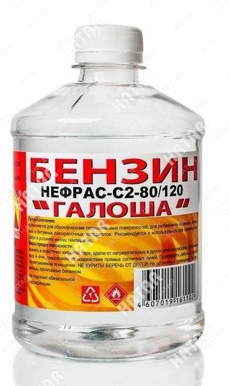 ВЕРШИНА Бензин галоша (растворитель) 0,5 пластик бут. (нефрас с2-80/120)