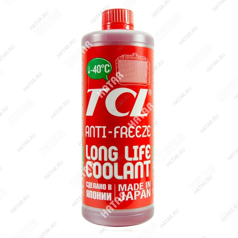 TCL Llc -40 антифриз tcl красный, 1л