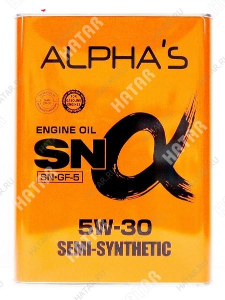 ALPHAS 5w30 масло моторное полусинтетика sn/gf-5 4l