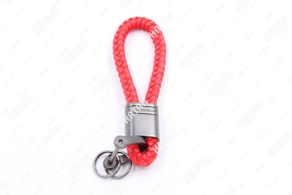 SUP Брелок для ключей шнурок плетеный красный