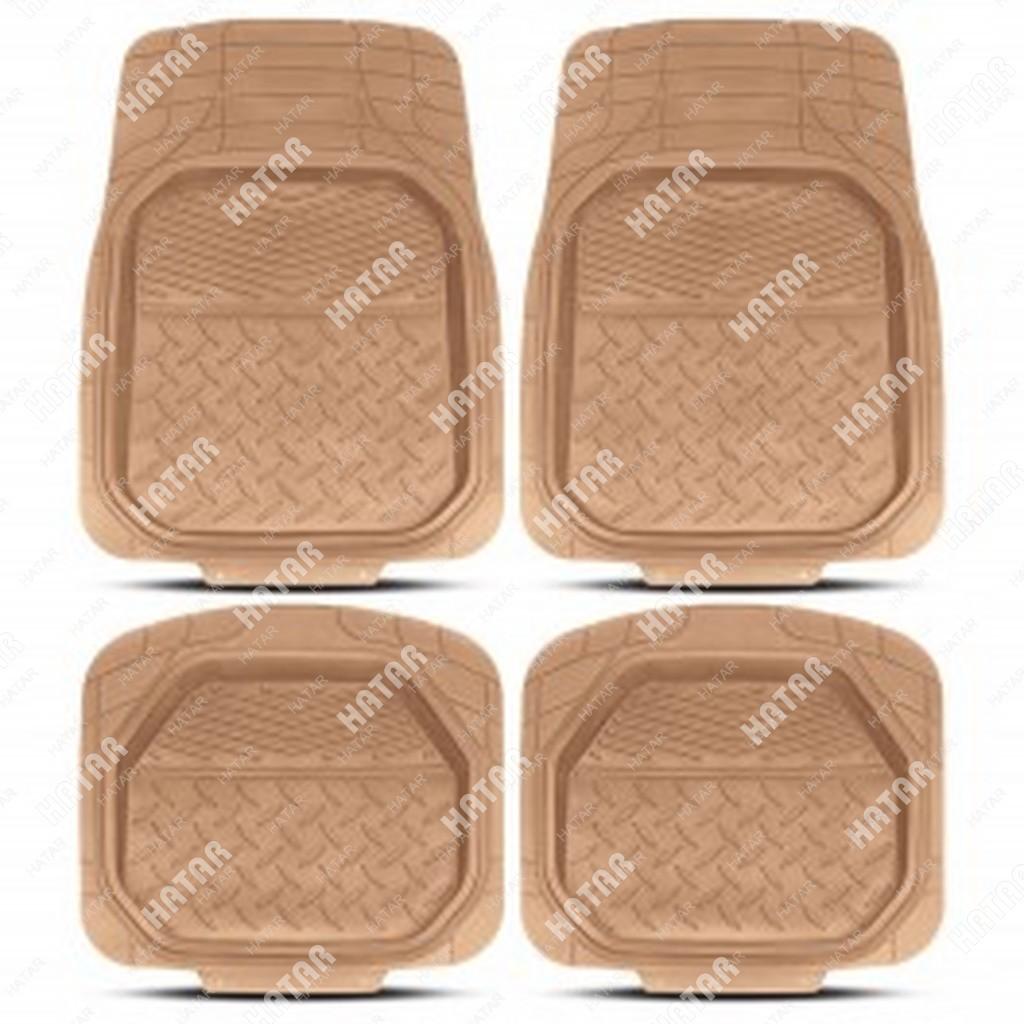 PREMIER Коврики автомобильные comfort, универсальные, ванночки, комплект из 4 предметов, бежевый