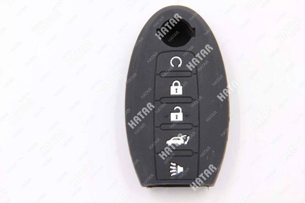 BOOST Чехол для брелока автосигнализации nissan-1 (черный 5 кнопок)