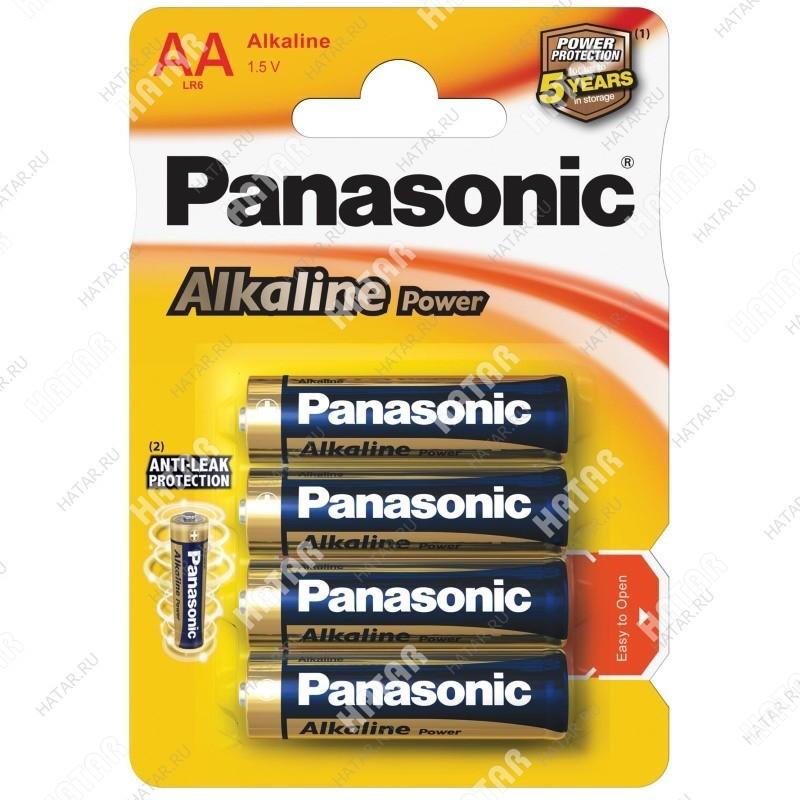 PANASONIC Lr6 panasonic alkaline батарейки aa 4шт.