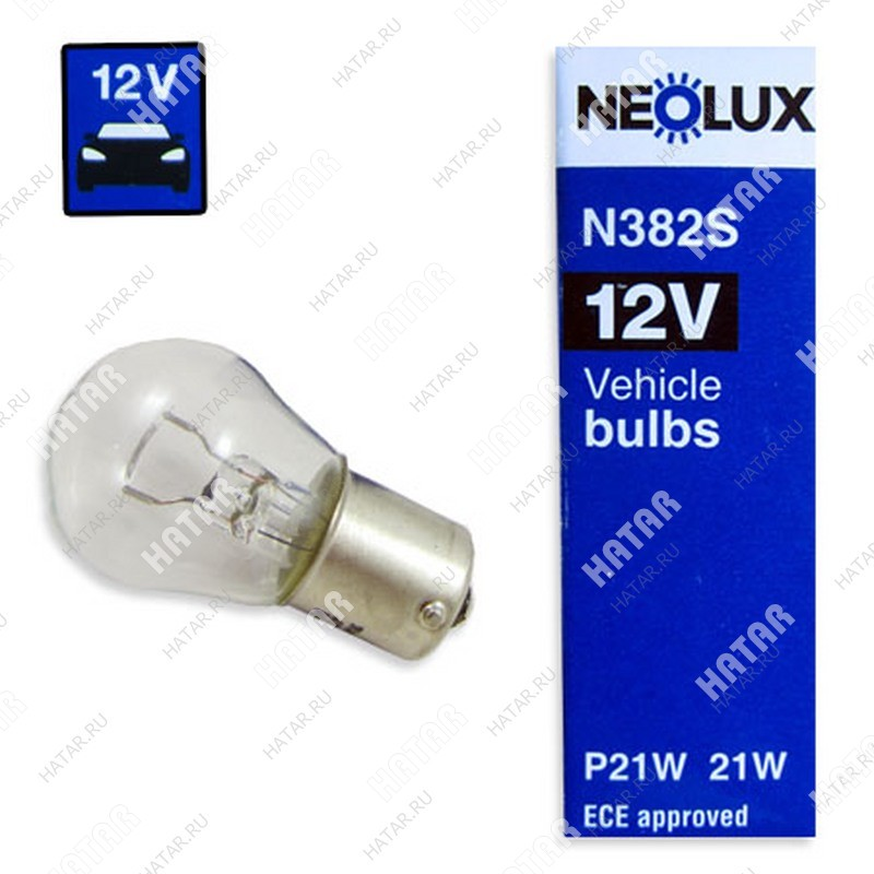 NEOLUX Лампа цокольная p21w ba15s standart 12v