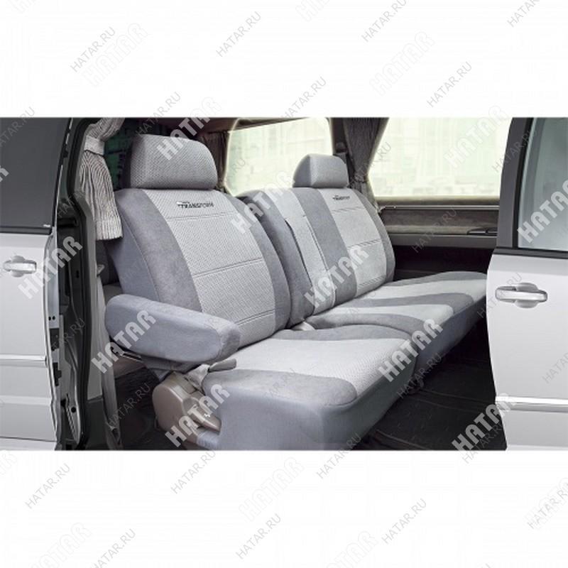 AUTOPROFI Авточехлы transform, перфор. велюр, 8 предм., 2 кресла, 2 подлокотника тёмно-серый /светло-серый размер m