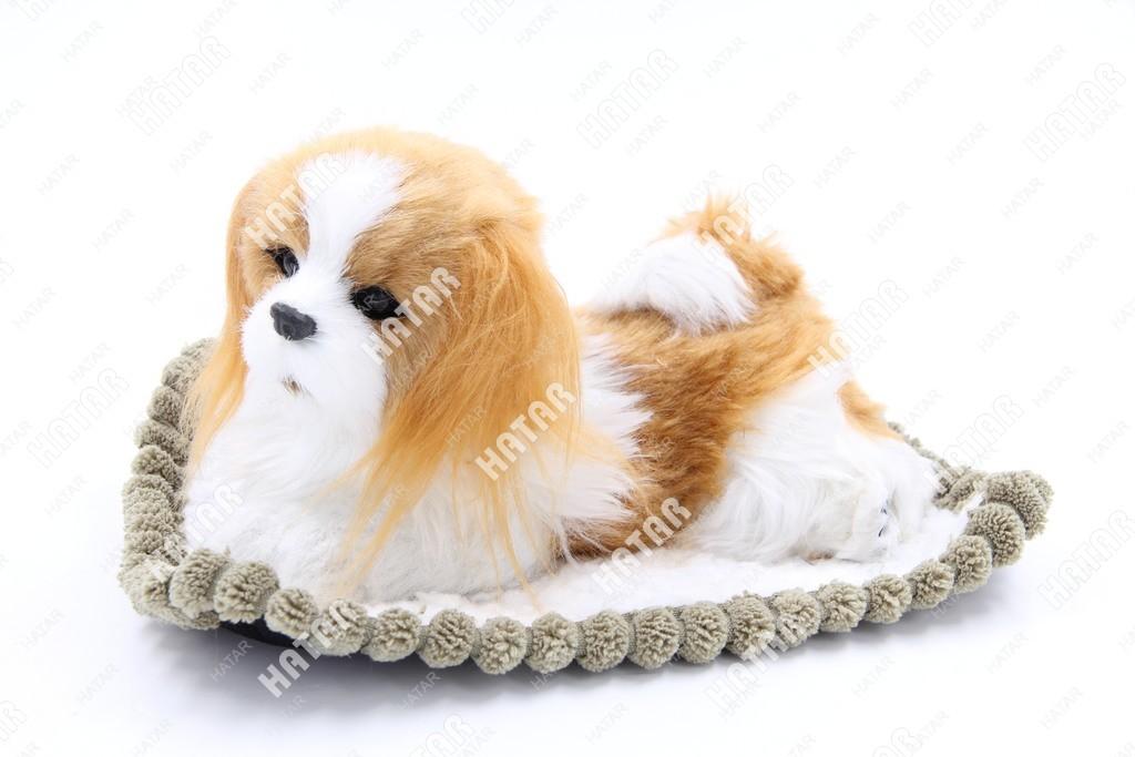 BOOST Собака игрушка украшение на панель белая/рыжая