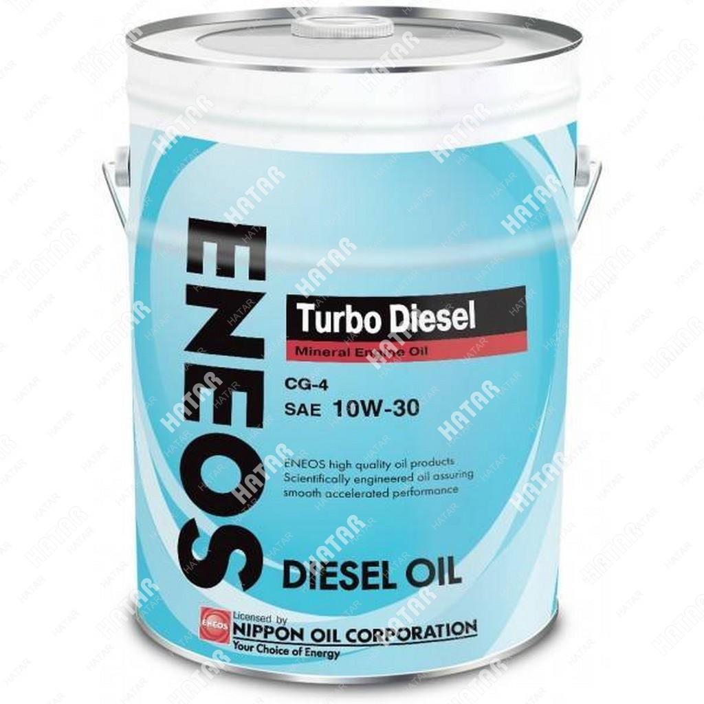 ENEOS 10w30 turbo diesel минеральное моторное масло cg-4 20л